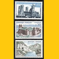3 TIMBRES POSTE FRANCE 1960 - SERIE TOURISTIQUE - N° 1235/1236/1239 - NEUFS **