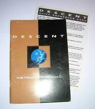 Vintage Interplay Descent Original PC Game Instruction Manual & Quick Reference