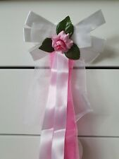 10x pew bows/reception bows in pink and white