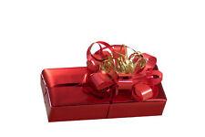 Parfum Geschenkverpackung - Papier rot glänzend + rote Schleife