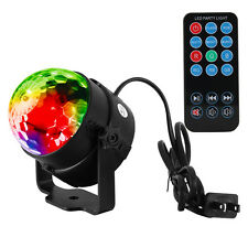 Portable RGB LED Disco Party Magic Stage Ball Light Lamp with Remote Control