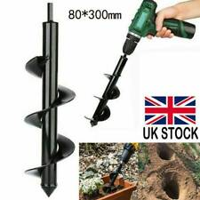 300mm x 800mm Earth Auger Drill Bit Ground Fence Post Hole Drilling Plant Tree