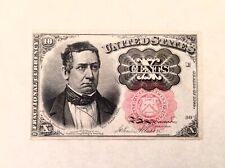 ~ FR 1265 TEN 10 CENTS FIFTH / 5TH ISSUE FRACTIONAL CURRENCY NOTE - MERIDITH