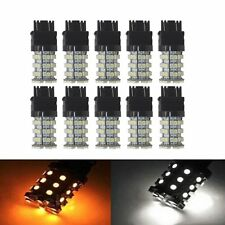 10Pcs 3157 3057 60smd Led Switchback Dual Color White Amber Turn Signal Reverse