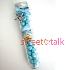 BEACH STYLE WEDDING FAVOUR, PERSONALISED CANDY TUBE, CHOCOLATES INCLUDED