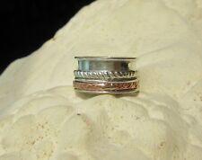 Ring aus Sterling Silber 925 Drehring Spinner Ring zweifarbig