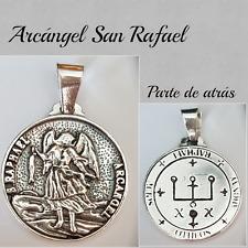 SAN RAFAEL COLGANTE ARCANGEL EN PLATA DE LEY 925 SILVER ARCHANGEL SAN RAPHAEL
