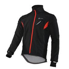 ROCKBROS Winter Cycling Fleece Thermal Warm Windproof Jacket Bike Coat Black