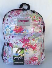 """East West U.S.  Sparkle White  16"""" School Backpack- PW1-4050"""