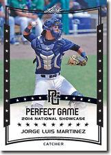 (12) JORGE LUIS MARTINEZ 2014 Leaf *PERFECT GAME*  Baseball Rookie RC LOT