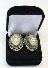 Rare 1880s Antique Victorian Turquoise Earrings