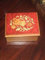 La Botteguccia Inlaid Wood Work Trinket Box Made In Italy