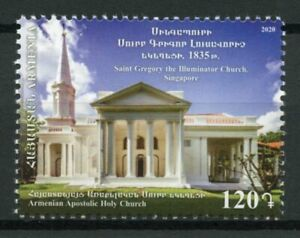 Armenia Churches Stamps 2020 MNH St Gregory Illuminator Church Singapore 1v Set