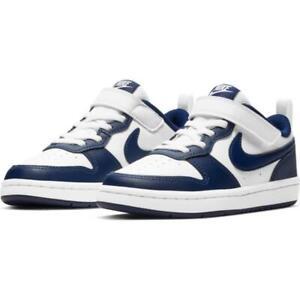 Nike Court Borough Low 2 Bambino Scarpe Bianco Blu Sneaker a Strappo Sportive