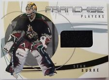 2001-02 Leaf ITG Be A Player Signature Series Sean Burke PATCH Hockey Card