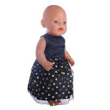 BABY DOLL 40CM OR 16 INCH DOLL BLACK MOUSE STYLE DRESS DOLL CLOTHES