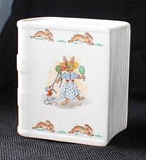 Vintage ROYAL DOULTON BUNNYKINS China TRY on HATS/SAILBOAT Book Bank Money Box