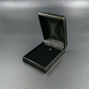 Black Leatherette Velvet Jewellery Presentation Pendant Charm Necklace Gift Box