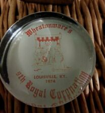 Vintage 1974 Louisville Ky Paperweight - Wheatonmare's 9th Royal Coronation