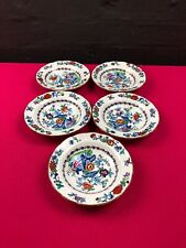 """5 x Booth's Silicon China The Pompadour Cereal Bowls 6.25"""" RARE"""