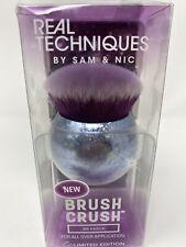 Real Techniques Brush Crush 306 Kabuki Brush- Silver/ Purple(E-2C) New
