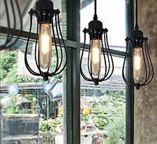 Marconi Caged Anique Vintage Industrial Ceiling Light Pendant Lamp Country LED
