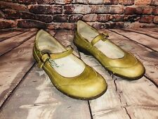El Naturalista Women's  Lime Green Leather Mary Jane Comfort Shoes 39