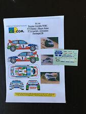 DECALS 1/43 TOYOTA COROLLA WRC AURIOL RALLYE PORTUGAL 1998 RALLY PORTUGHESE