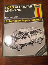 Haynes FORD AEROSTAR MINI-VANS 1986-1988, All Models, Repair Manual #1476