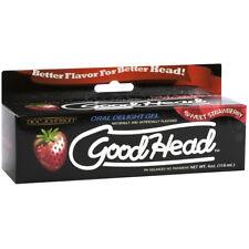 Doc Johnson Good Head Gel Oral Throat Numbing Goodhead Numb Lube Strawberry 4oz