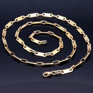 Plattenkette Plättchenkette Halskette ECHT Gold 585 14K 4mm 59cm NEU Goldkette