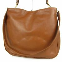 Auth GUCCI Vintage Bamboo Leather 2WAY Shoulder Hand Bag Italy F/S 12320b