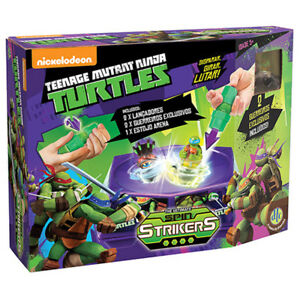 TARTARUGHE NINJA TURTLES ARENA + 2 TROTTOLE + 2 PERSONAGGI NUOVO SPIN STRIKERS