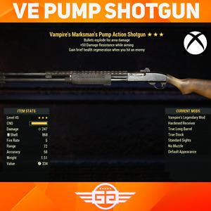 VE Pump Shotgun - VE50 Shotgun - V/E/50 Pump Shotgun - Fallout76 [XBOX]