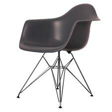 Gris Oscuro Plástico estilo Eiffel Retro Sillón - 4 opciones de pierna/entrega UK LIBRE