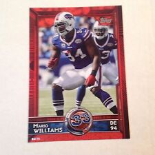 #361 Mario Williams North carolina St / Bills T60 #ed/25 made Red 2015 Topps 5x7