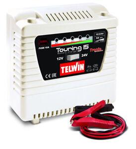 Caricabatterie monofase portatile TELWIN Touring 15 230V 12-24V