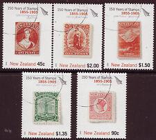 Nueva Zelanda 2005 150 años de Nueva Zelanda Estampillas Set De 5, Fine Used