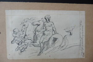 FRENCH NEOCLASSICAL SCHOOL 18thC - MYTHOLOGICAL SCENE ATTR. NITOT - INK DRAWING