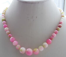 Loose Beads Necklace 18'' H-30 Aaa 6-14mm Pink Alexandrite Faceted Round