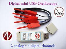 DOmini Digital mini USB Oscilloscope 2 analog + 4 digital channels