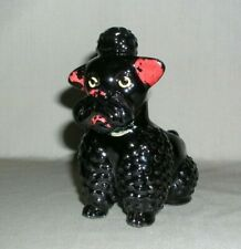 Vintage Poodle Ceramic Figurine Planter Vase is in good condition