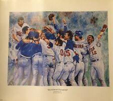 Kent Hrbek Twins Signed World Series Champions 25x20 Print Kelly Russel Studios