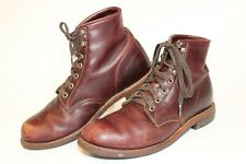 Aldo Mens Size 9 42 Distressed Leather Lace Up USA Made Ankle Chukka Boots
