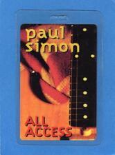 Paul Simon All Access Laminate Pass UNUSED!