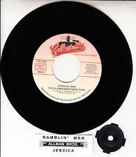 "THE ALLMAN BROTHERS BAND  Ramblin' Man & Jessica 7"" 45 rpm vinyl record NEW"
