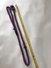 Dog Slip Lead Purple Strong Rope Thick - Approx 120cm Long