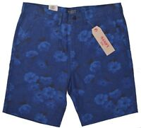 Levis Men's $50 Zipper Fly Floral Striaght Casual Chino Shorts Choose Size