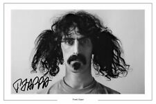 FRANK ZAPPA SIGNED PHOTO PRINT AUTOGRAPH MUSIC MOTHERS OF INVENTION