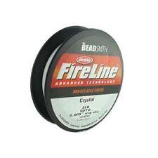 "Fireline Braided Beading Thread Crystal Clear 2LB-strength, 50 Yards, 0.003"" dia"
